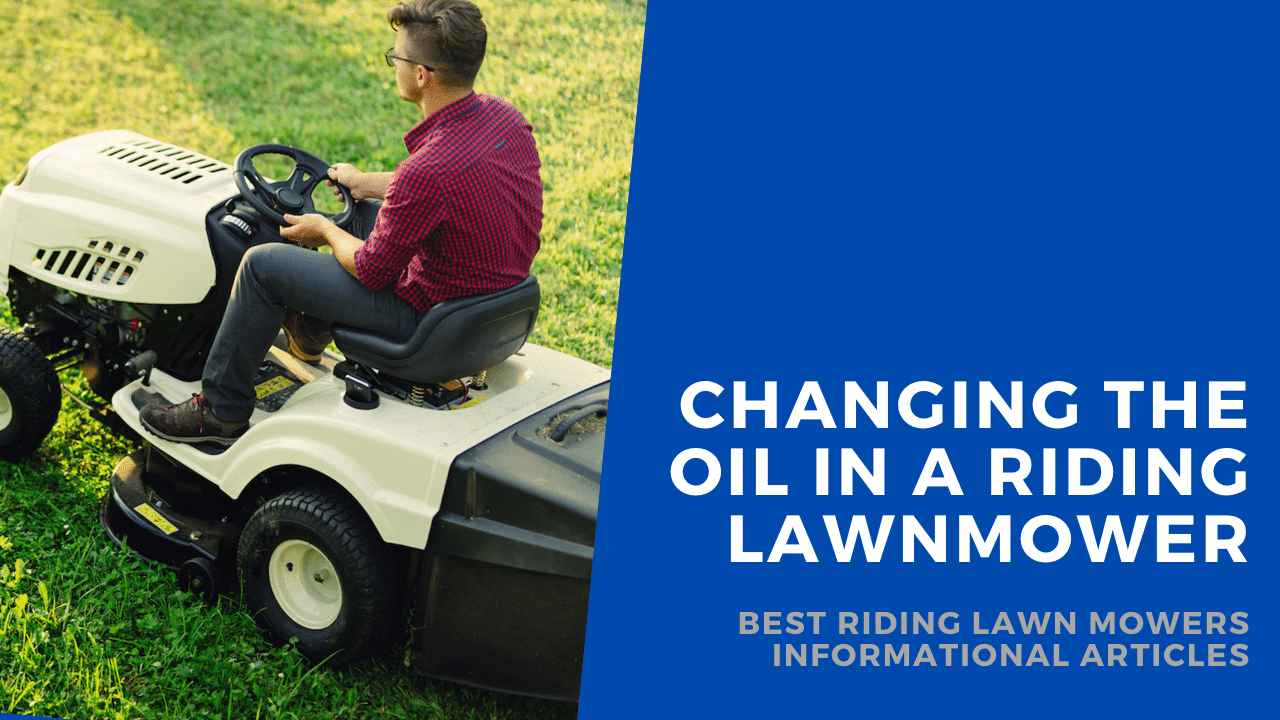 how to change oil in riding lawn mower featured